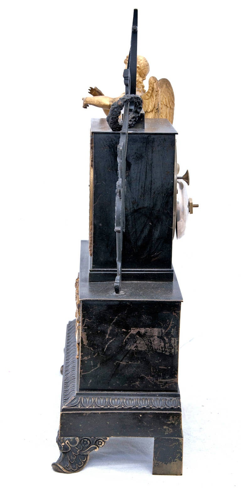 A 19th century French Empire Mantel Clock For Sale 1