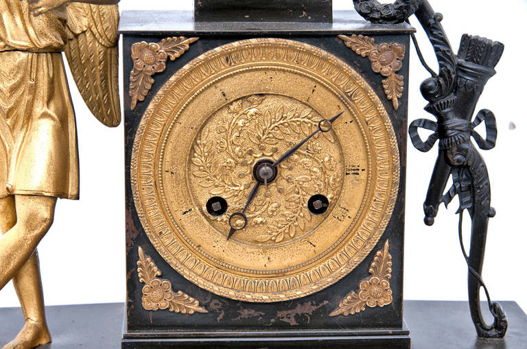 A 19th century French Empire Mantel Clock For Sale 3