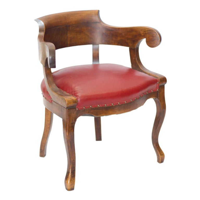 Antique french walnut desk chair at 1stdibs for Antique office chair