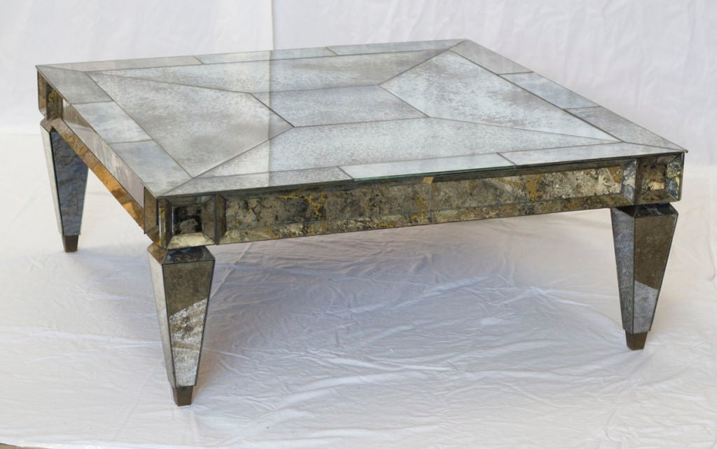 Https Www 1stdibs Com Furniture Tables Coffee Tables Cocktail Tables Vintage Square Mirrored Coffee Table Id F 549505