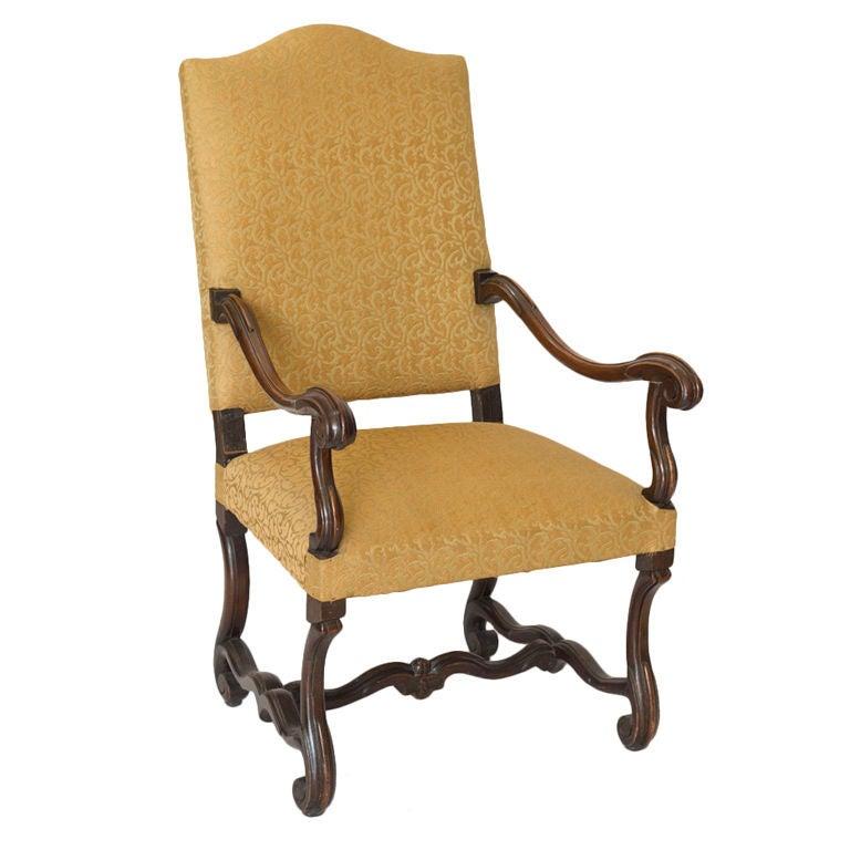 Large vintage walnut armchair at stdibs