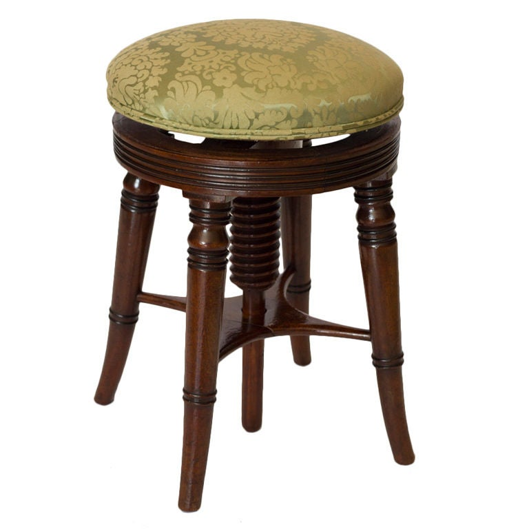 English Mahogany Adjustable Stool At 1stdibs