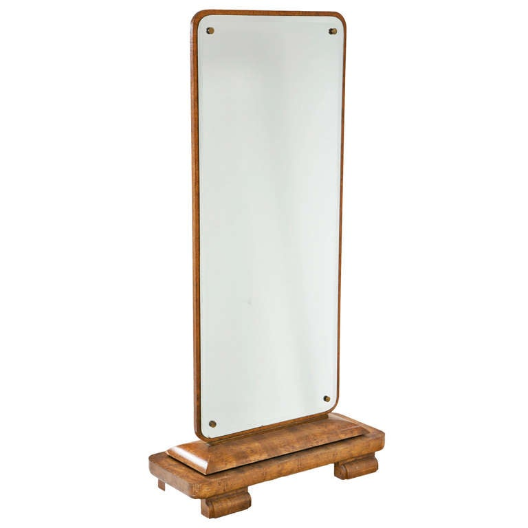 Full Length Art Deco Dressing Mirror European Circa 1930