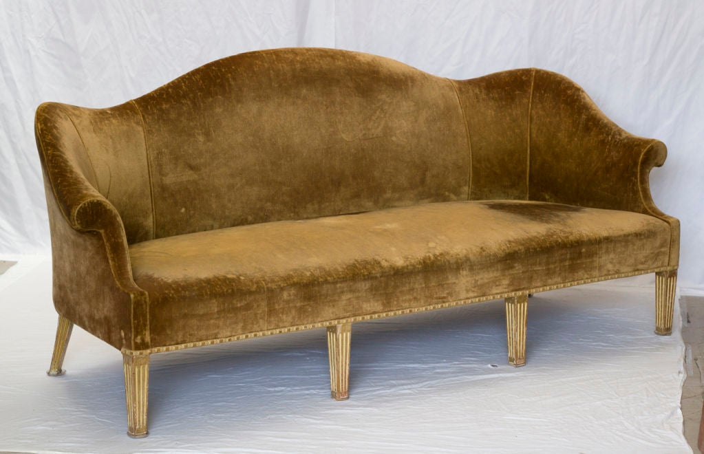 Vintage Giltwood Camelback Sofa At 1stdibs