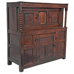 English 17th Century Oak Court Cupboard, circa 1630