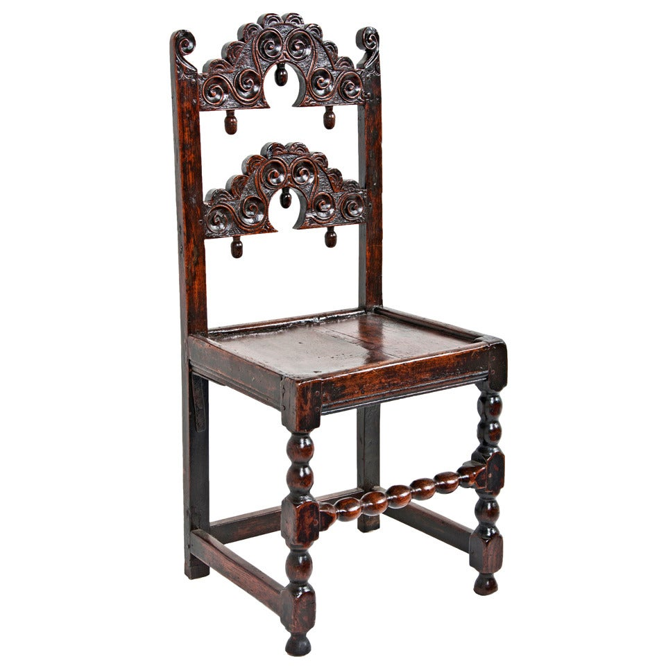 17th century oak side chair for sale at 1stdibs for Side chairs for sale