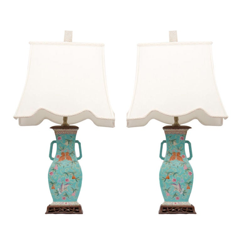 Pair Of Chinese Republic Period Vases As Lamps At 1stdibs