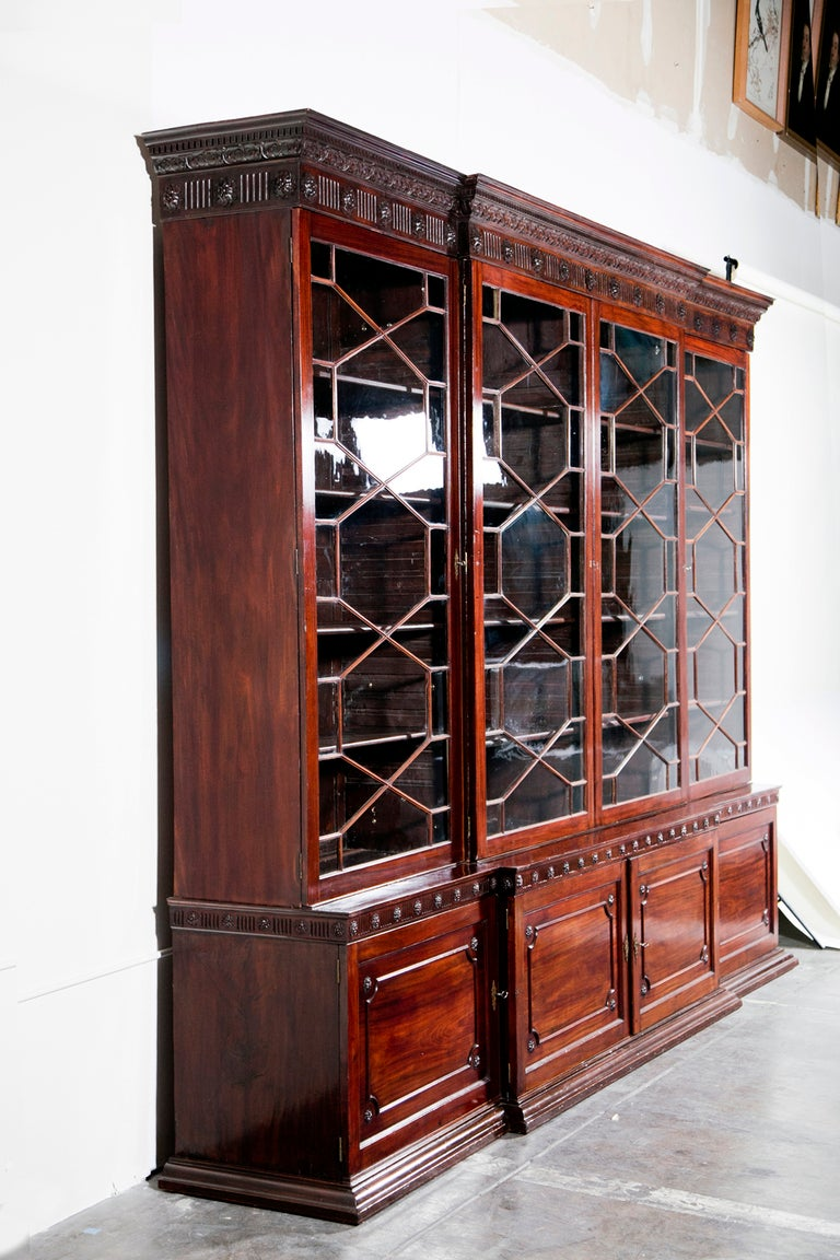 how many members are in the cabinet georgian mahogany bookcase cabinet at 1stdibs 16692