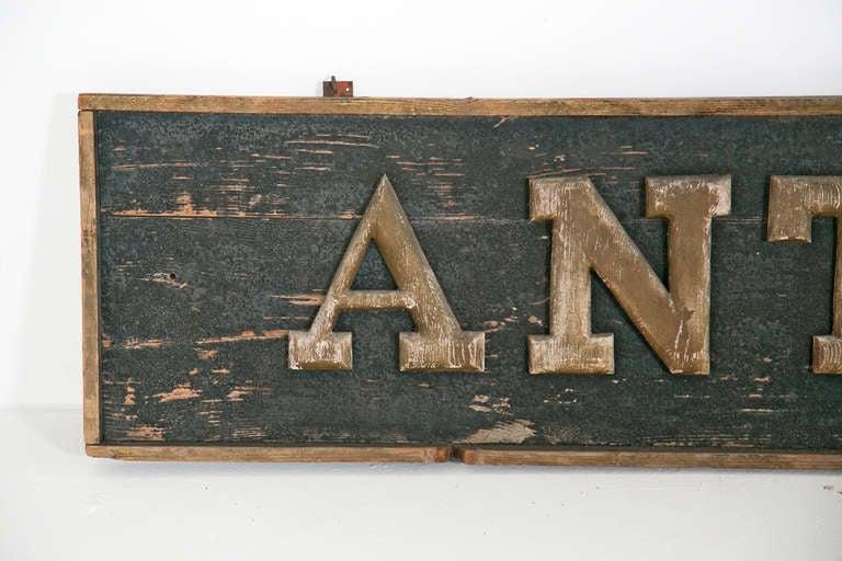 Large Vintage Antiques Store Sign 6