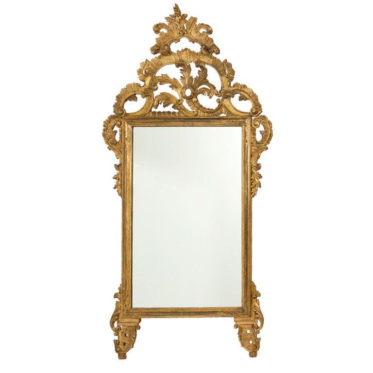 Large Decorative Vintage Italian Mirror At 1stdibs