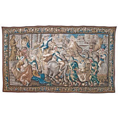 Baroque Tapestry Depicting Caesar Returning to Rome, 17th Century