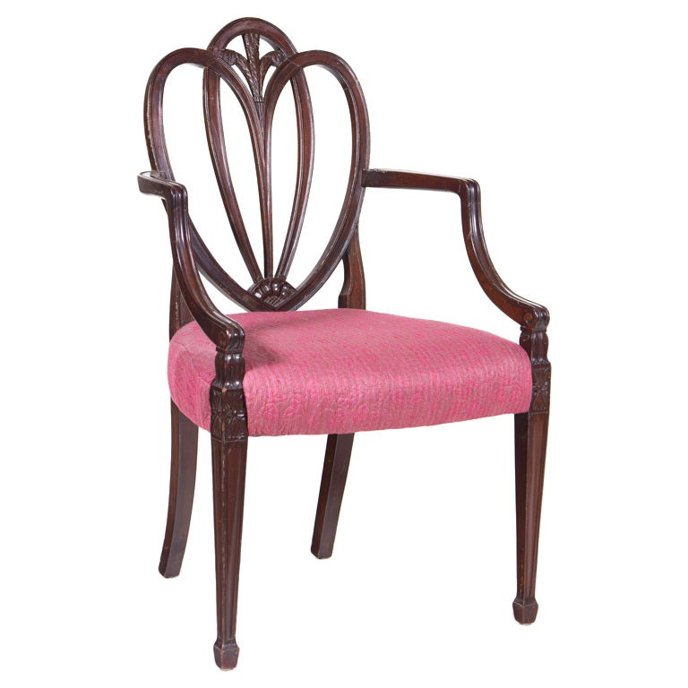 Vintage Sheraton Arm Chair At 1stdibs