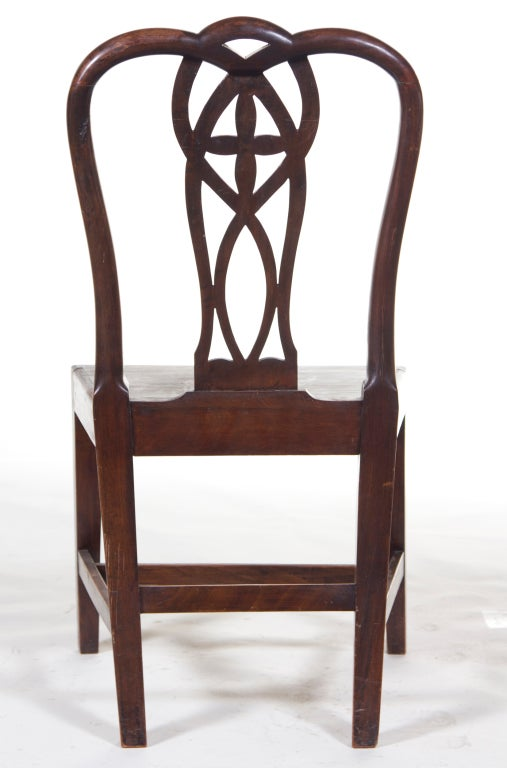 Pair of English Mahogany Chippendale Chairs For Sale 1