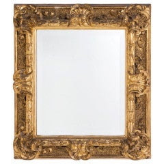 "Classic Italian Baroque Style Mirror, 31"" x 28.5"""