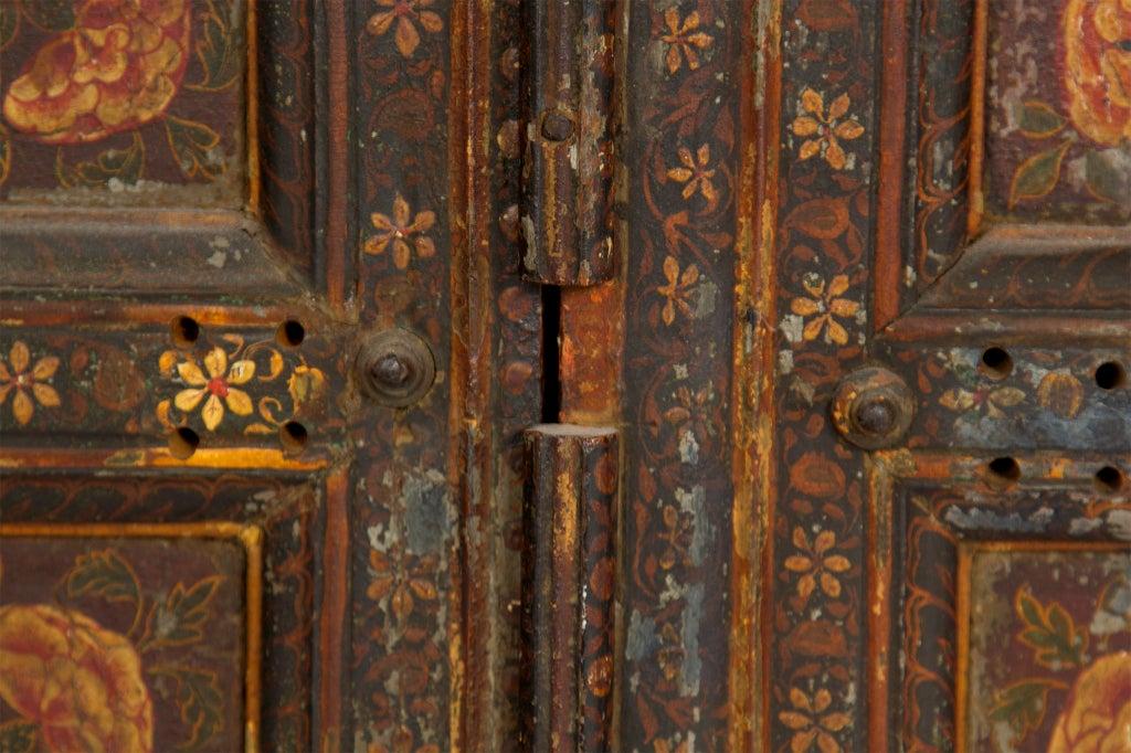Amazing Rare Pair of Antique Painted Doors image 5
