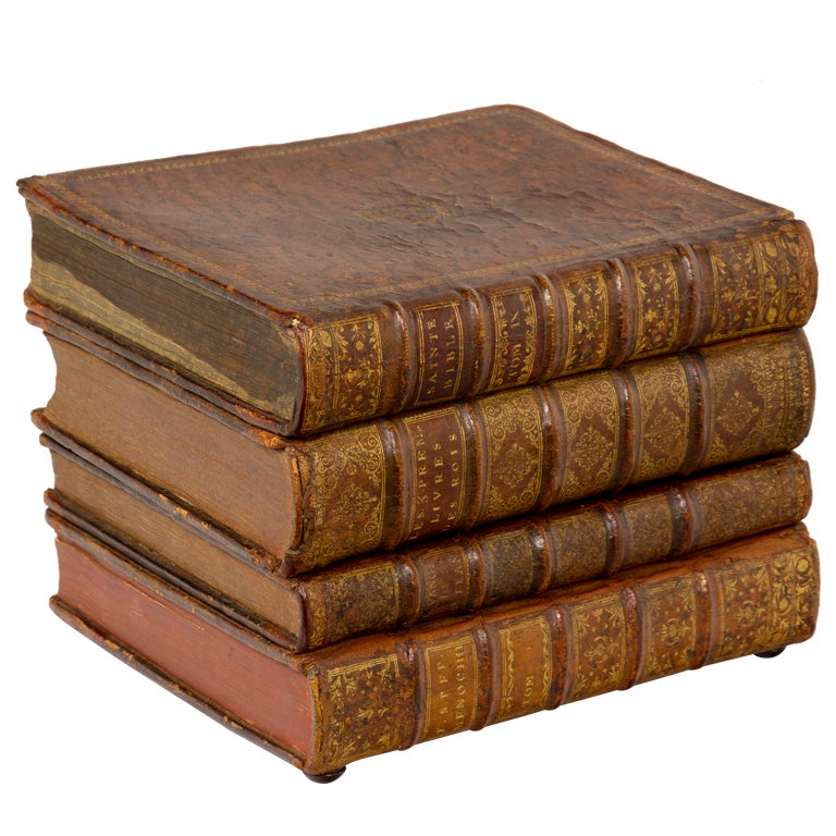 Vintage Leather Faux Book Musical Liquor Box at 1stdibs