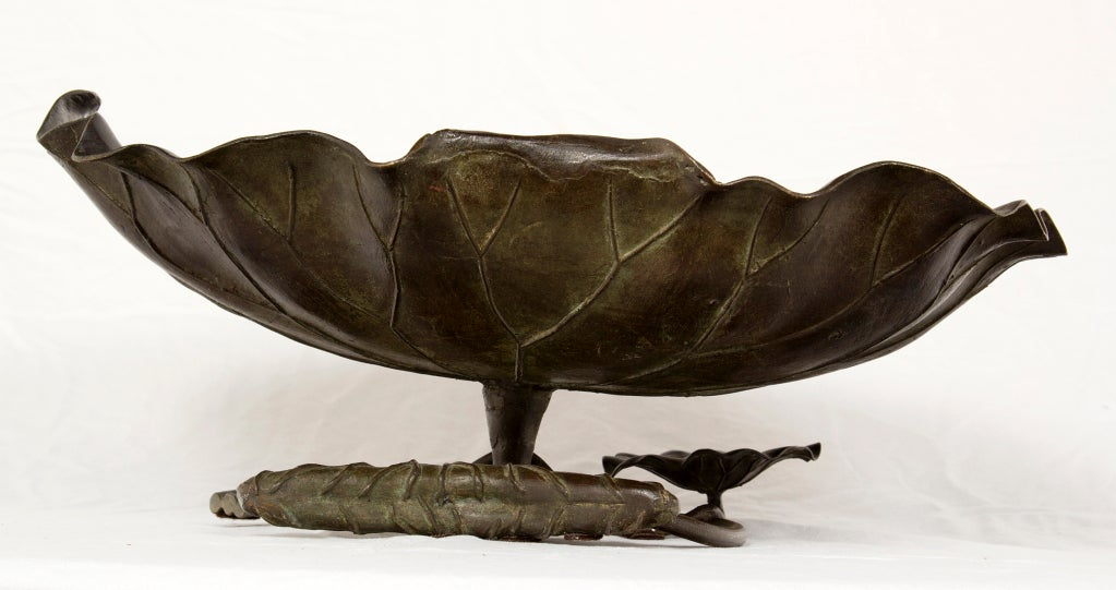 Meji Bronze Lotus Bowl image 5