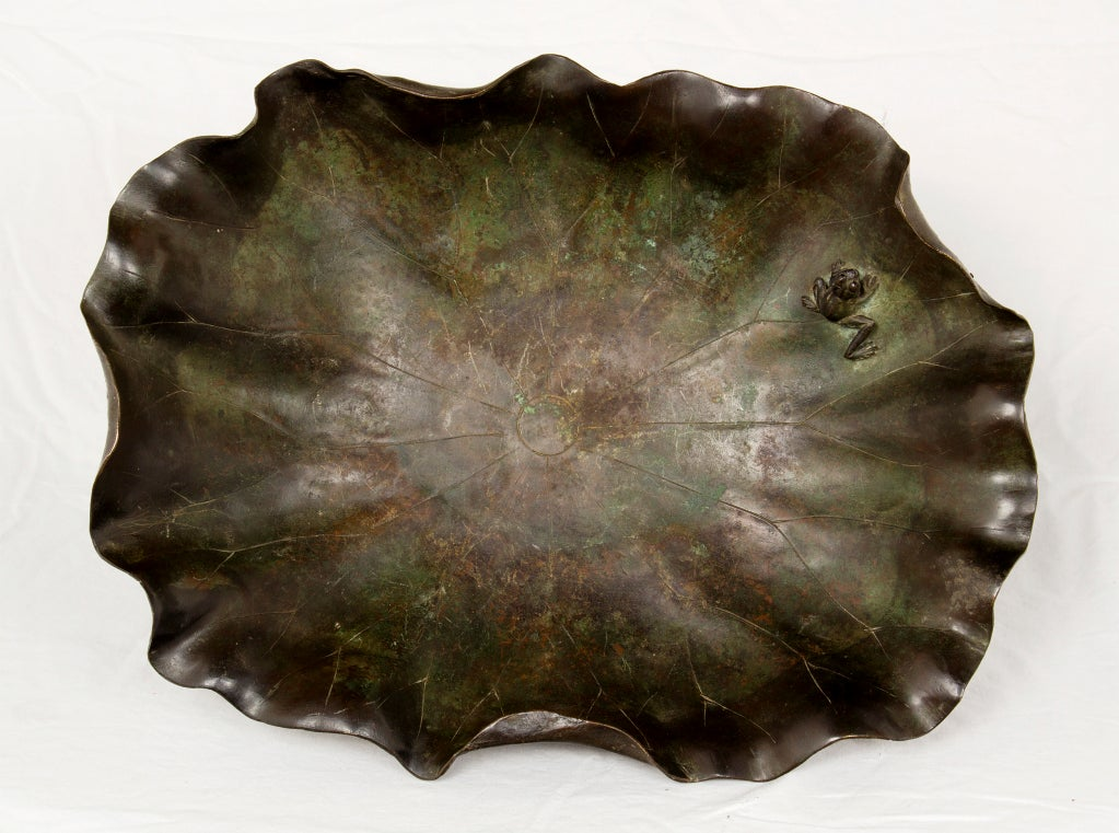 Meji Bronze Lotus Bowl image 6