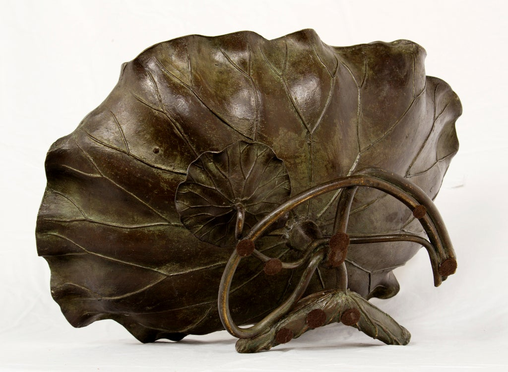 Meji Bronze Lotus Bowl 7