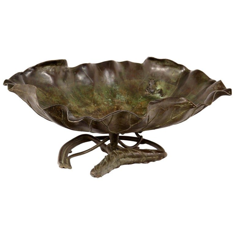 Meji Bronze Lotus Bowl