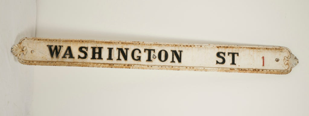 Large Victorian Cast Iron  Street Sign 2