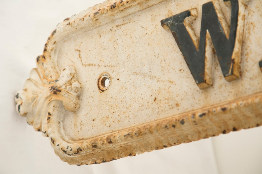 Large Victorian Cast Iron  Street Sign 3