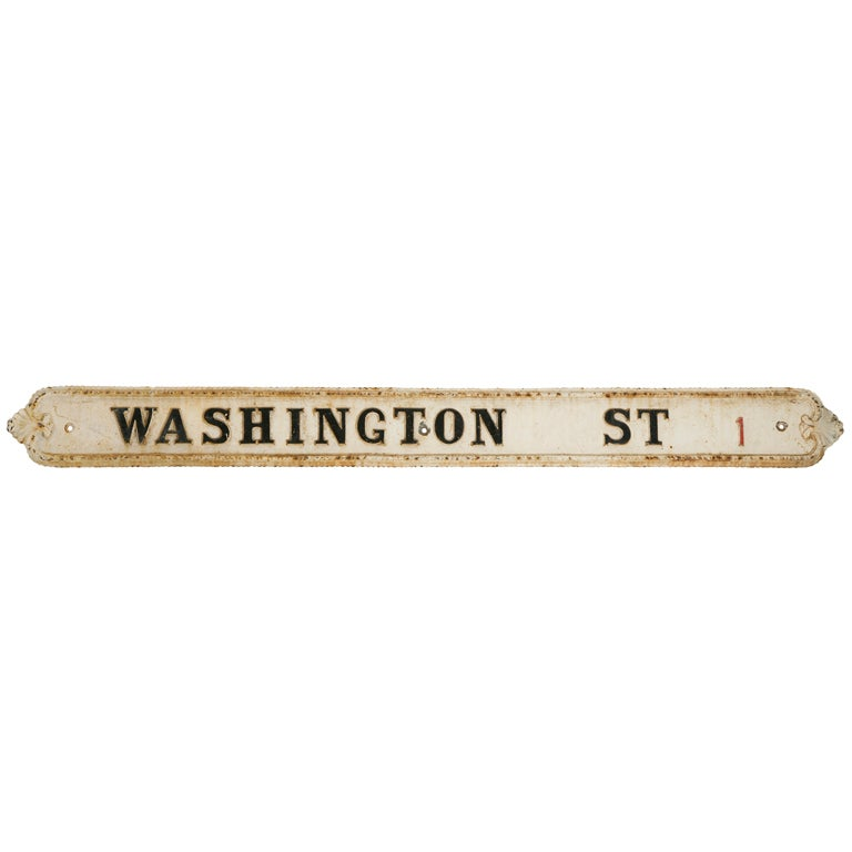 Large Victorian Cast Iron  Street Sign