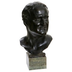 Glasgow School Bronze Bust by Francis Derwent Wood