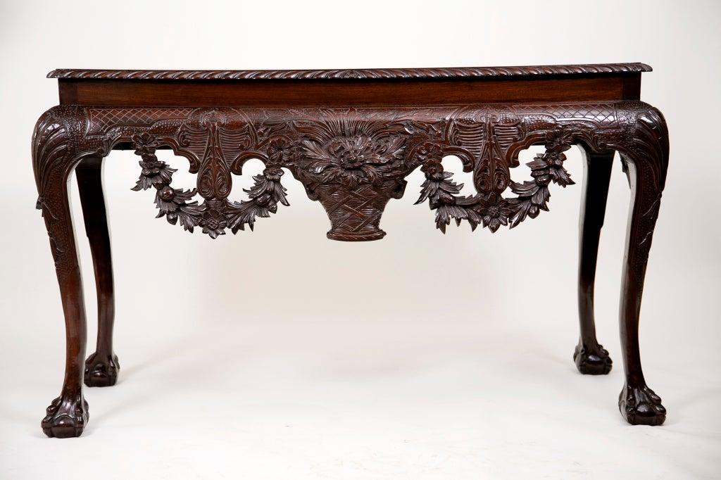 Irish mahogany console table at 1stdibs for Sofa table ireland