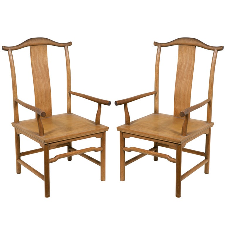 One of a pair of vintage mcguire chairs in ming chinese for Chinese style furniture for sale