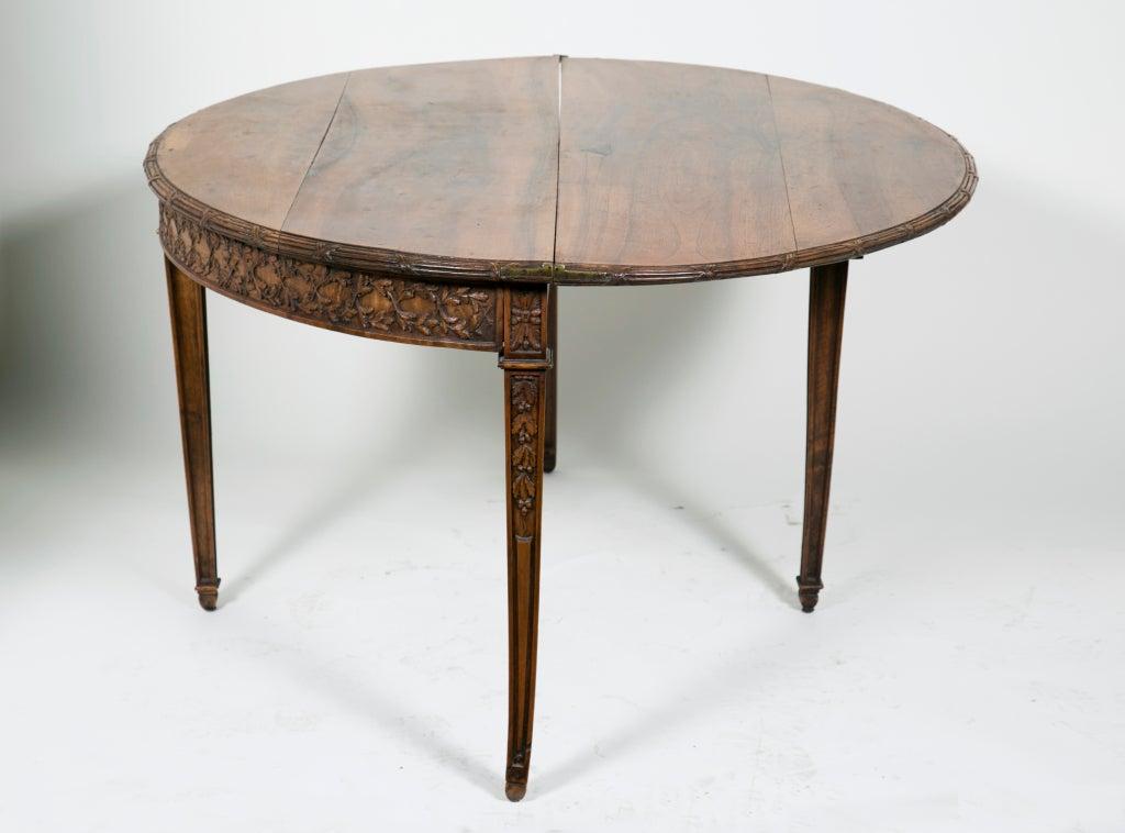 carved old folding demi lune table at 1stdibs. Black Bedroom Furniture Sets. Home Design Ideas