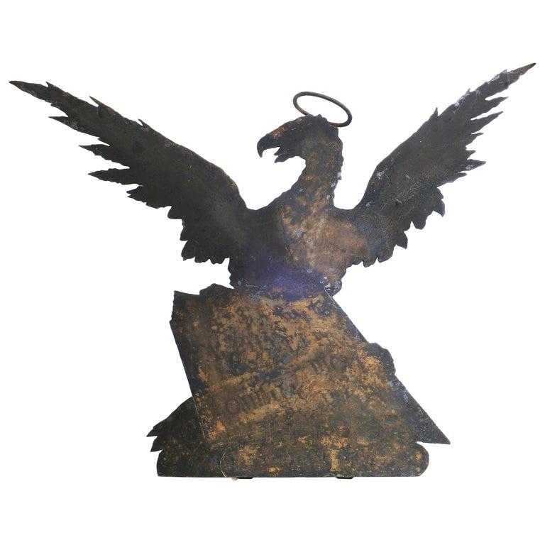 Iron Eagle Book Store Sign, circa 1800