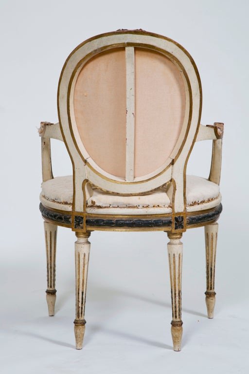 Pair of Painted and Gilt French Chairs 9