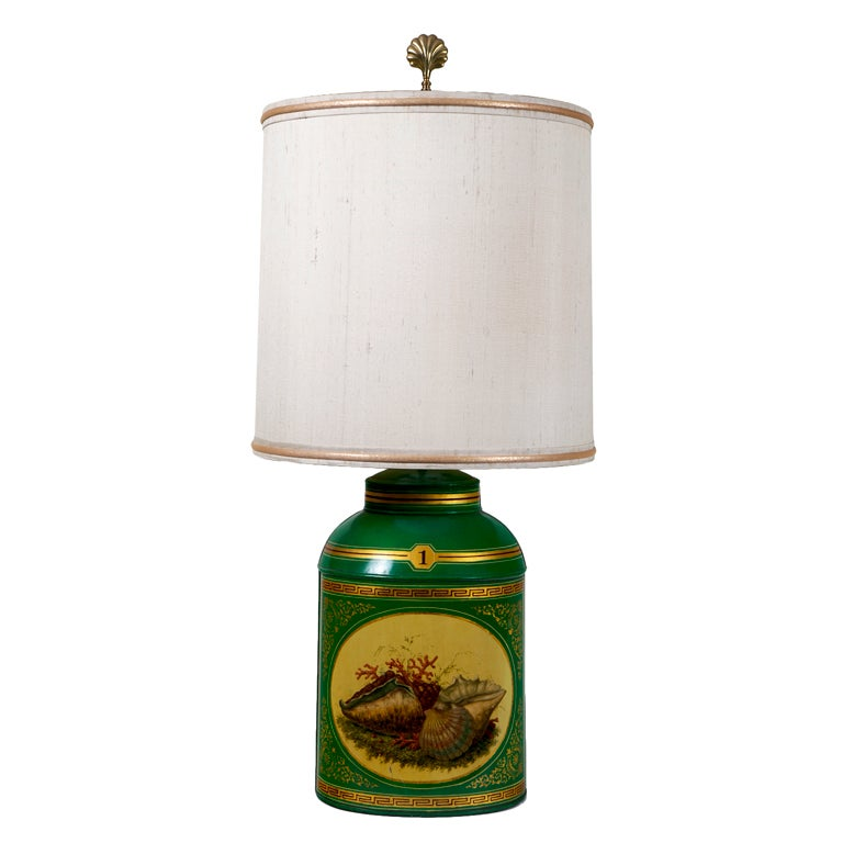Apple Green Tea Canister / Lamp #1 For Sale