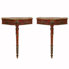 Pair of Painted Italian Consoles