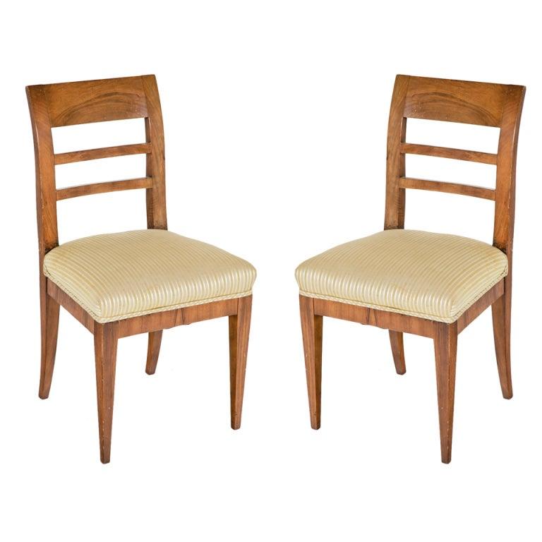 Marvelous Pair Of Biedermeier Chairs 1
