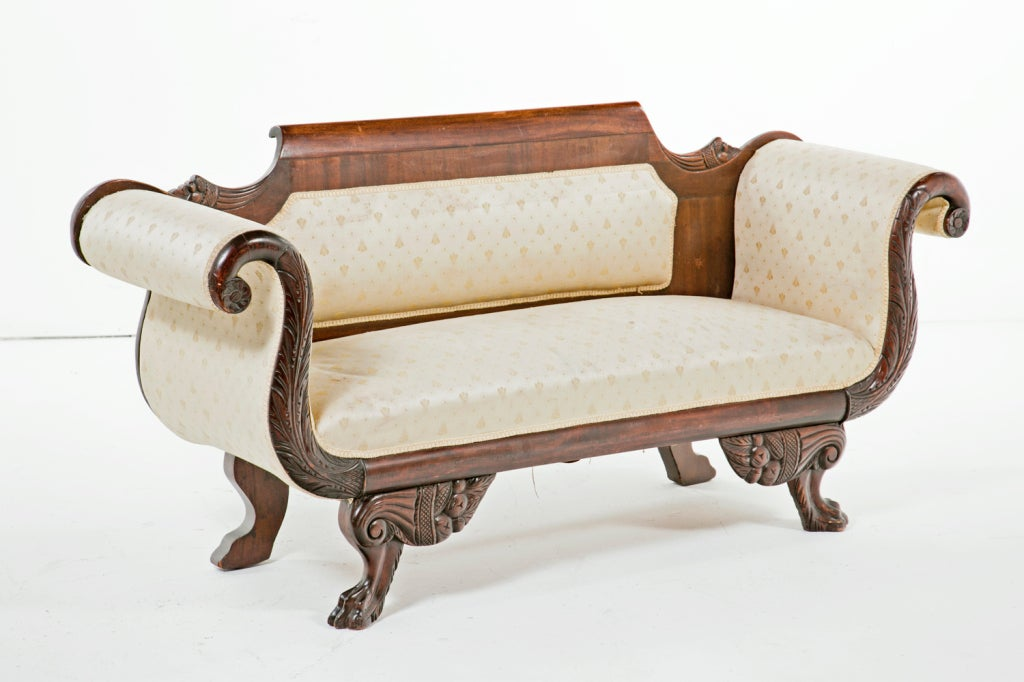 Pair Of American Empire Sofas 19th Century For Sale At