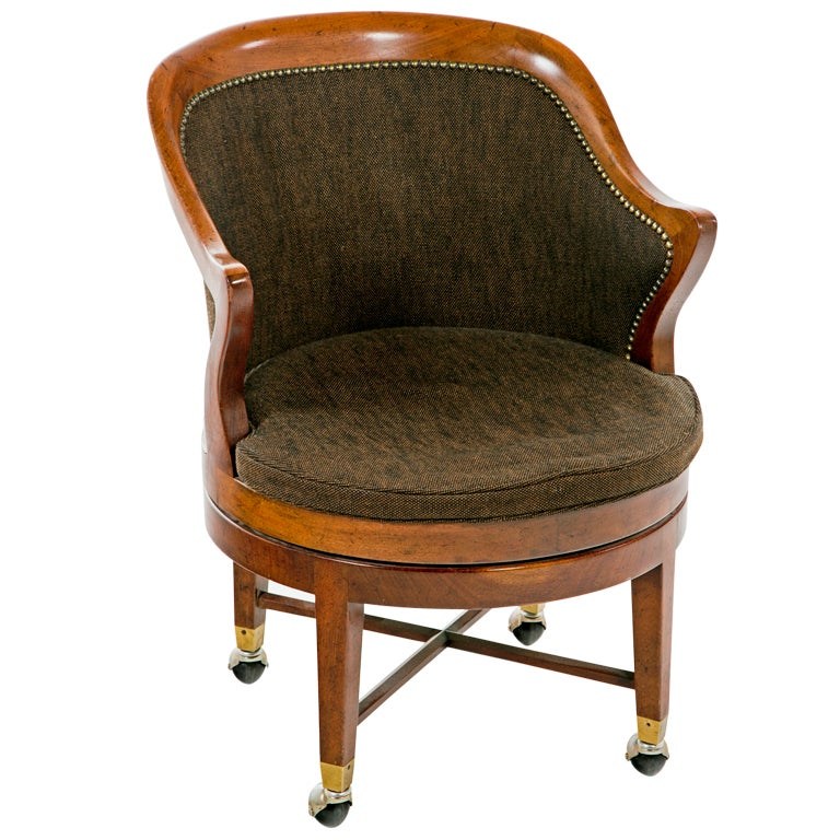 Vintage English Swivel Desk Chair at 1stdibs