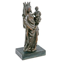 Bronze Gothic Mary and Christ