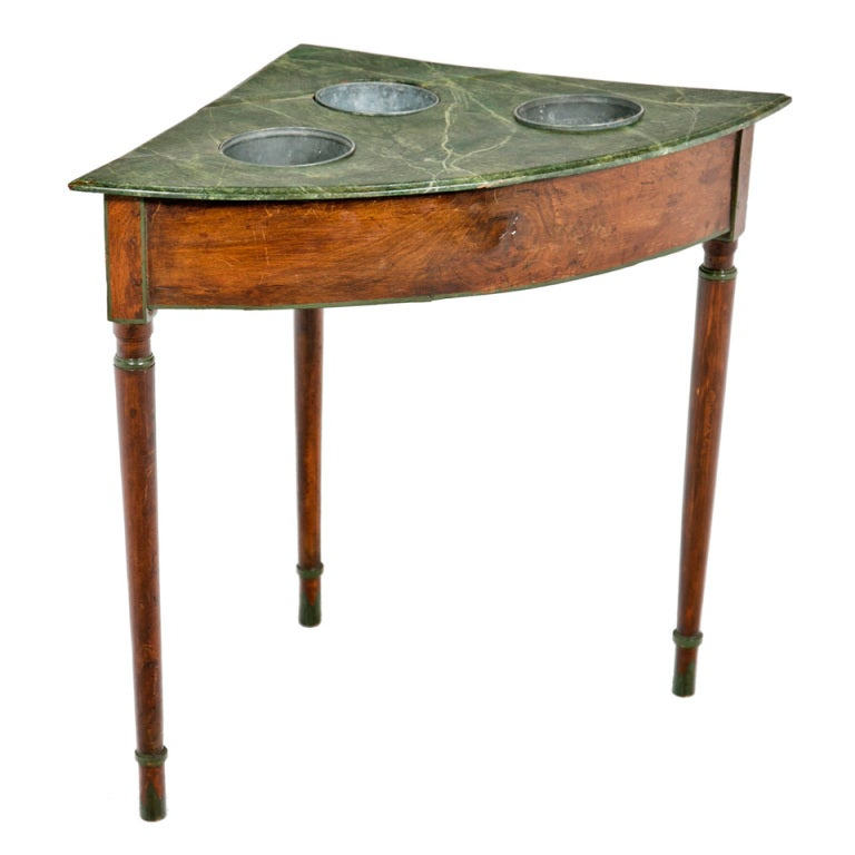19th Century French Faux Marble Wine Table