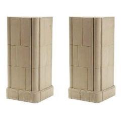3rd Quarter 20th Century Pair of Neoclassical Stone Pedestals
