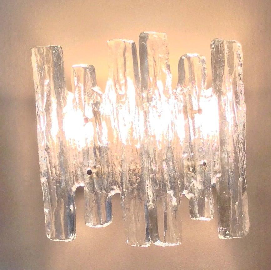 Pair of Milan Glass Sconces at 1stdibs