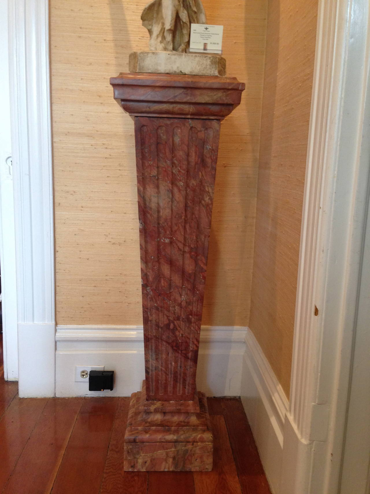 French Violette Marble Pedestal, circa 1860 2