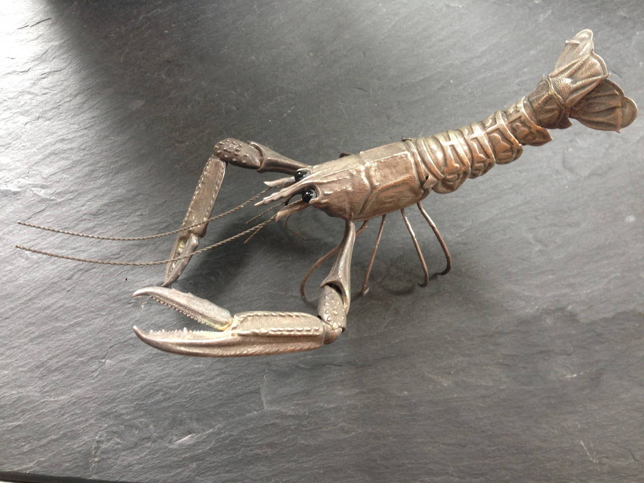 Mid-Century Sterling Sculpture of a Tiger Prawn 3