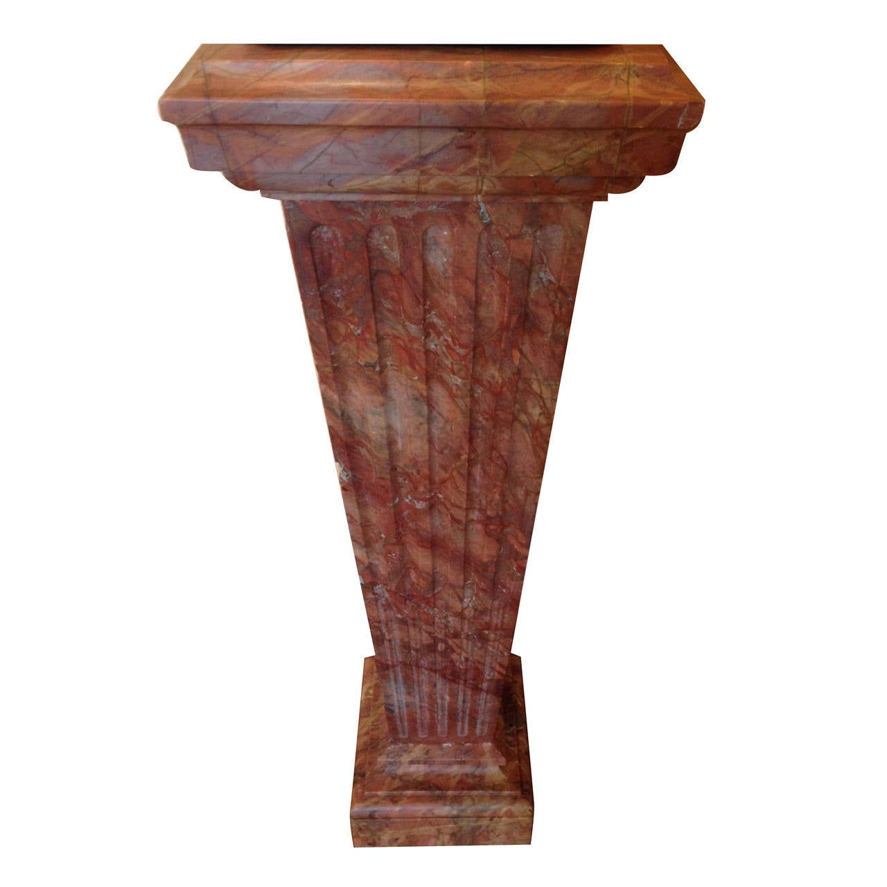 French Violette Marble Pedestal, circa 1860 For Sale