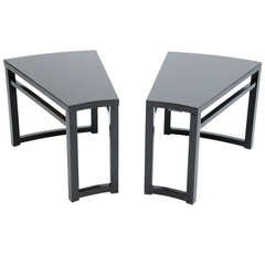 Pair of Paul Laszlo Wedge Side Tables