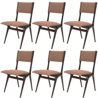 A set of six carlo di carli chairs for singer and sons at for Singer dining room set