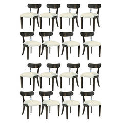 Set of 16 Edward Wormley Neoclassical Dining Chairs
