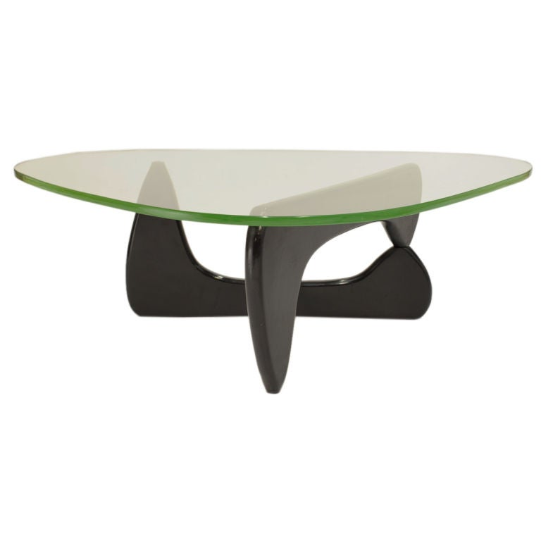 Early Green Glass Coffee Table By Isamu Noguchi At 1stdibs