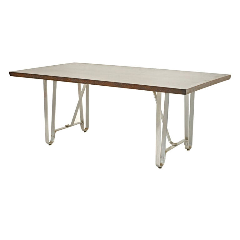 Custom philip agee dining table for sale at 1stdibs for Unique kitchen tables for sale